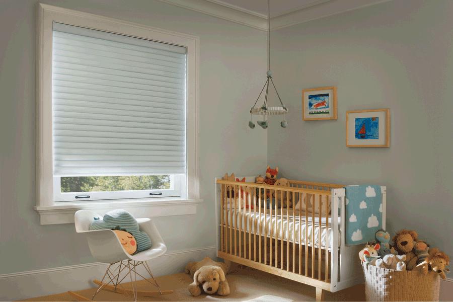 nursery neutral colors aero drapery and blind