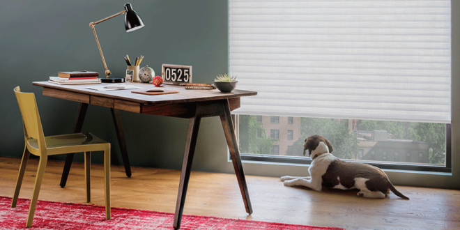 Control the light in your home office with help from Aero Drapery and Blind.