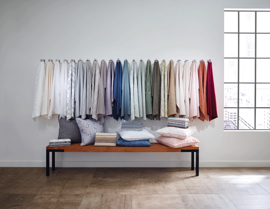 Countless fabric options for your layer window treatments.