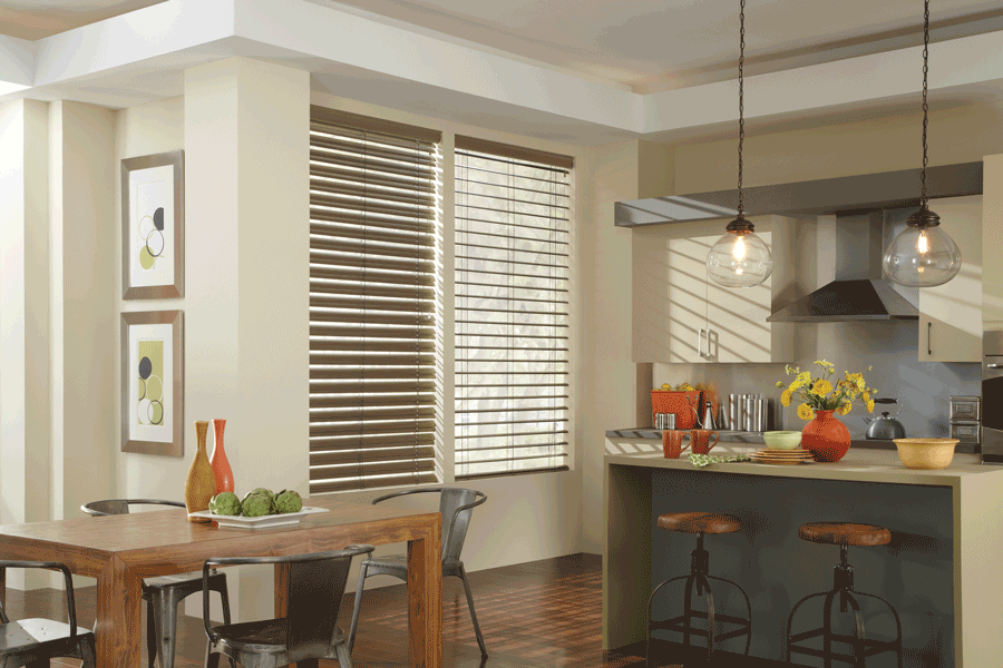kitchen hygge modern metals aero drapery and blinds