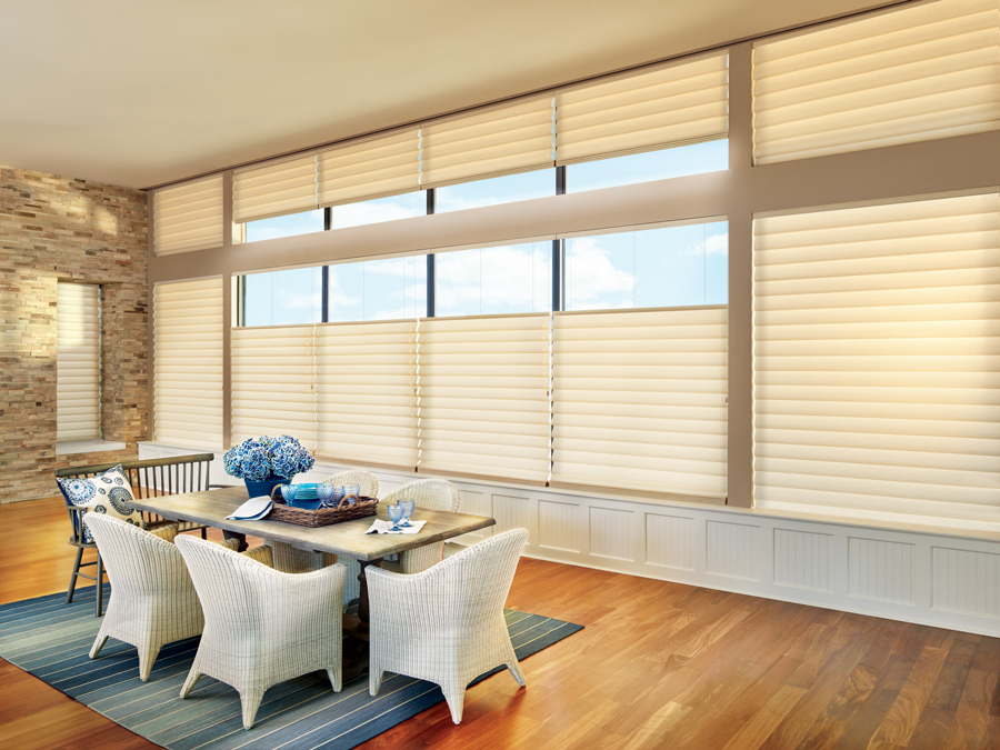 dining room modern up down bottom up roman shades aero drapery and blind