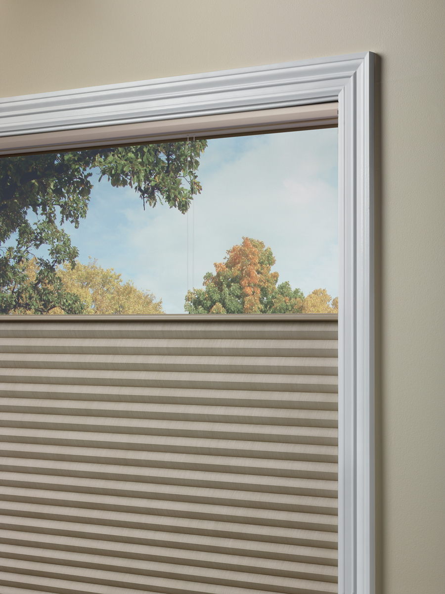 close up top down shades for insulation thermal window treatments