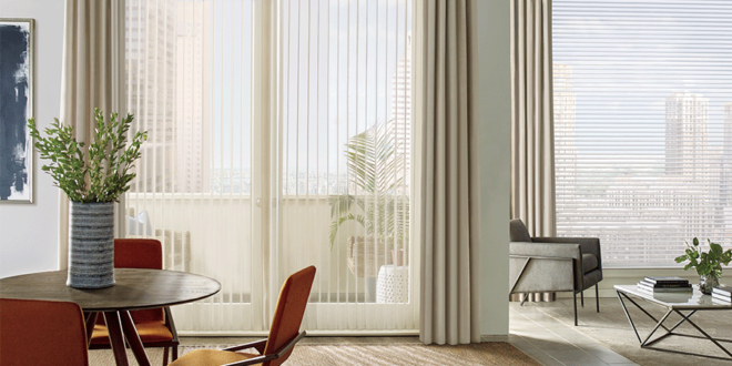 Aero Drapery and Blind selection of the best window treatments for doors.