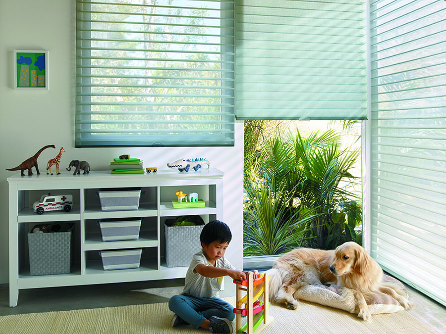 Increased safety in the playroom with cordless shades.