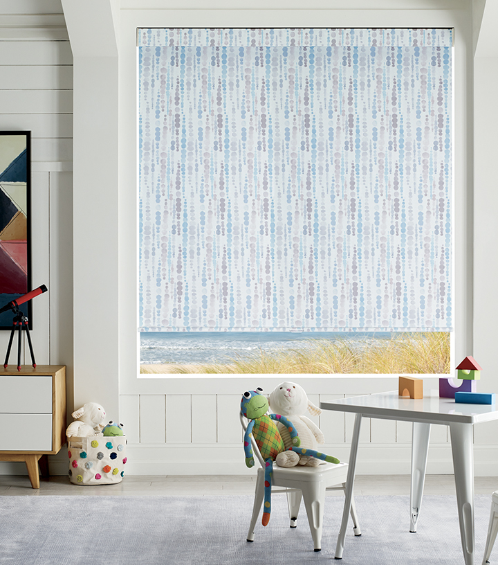 cordless roller shades in Minneapolis MN playroom