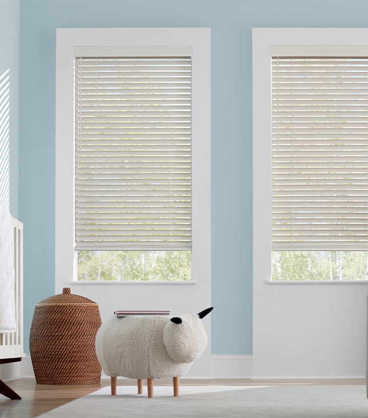 cordless faux wood blinds in Maple Grove MN