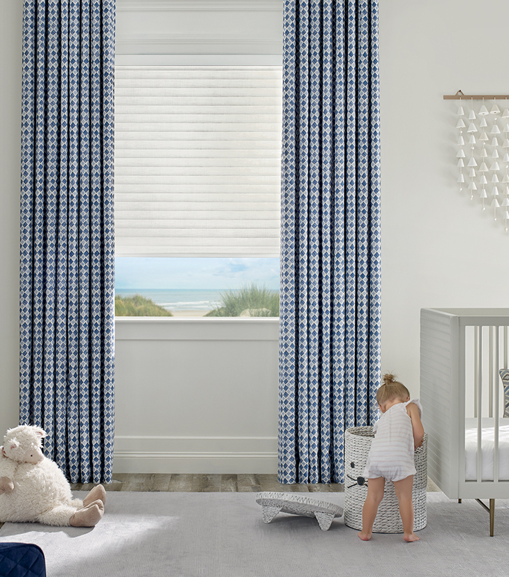 nursery with cordless blinds in St Paul MN