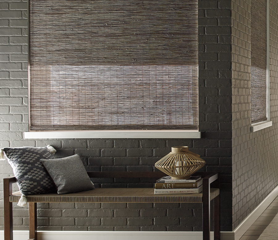 woven wood shades with dual shades for energy efficiency St Paul MN