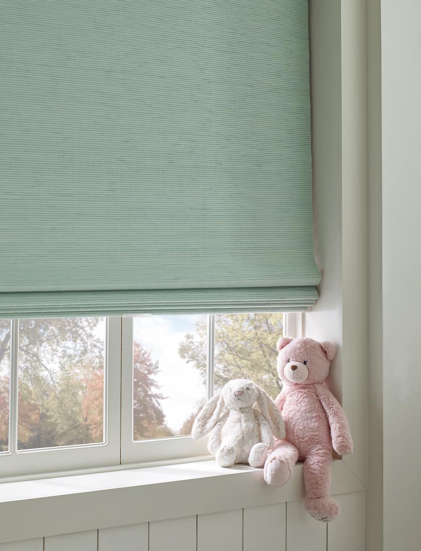 green cordless shades in nursery Burnsville MN
