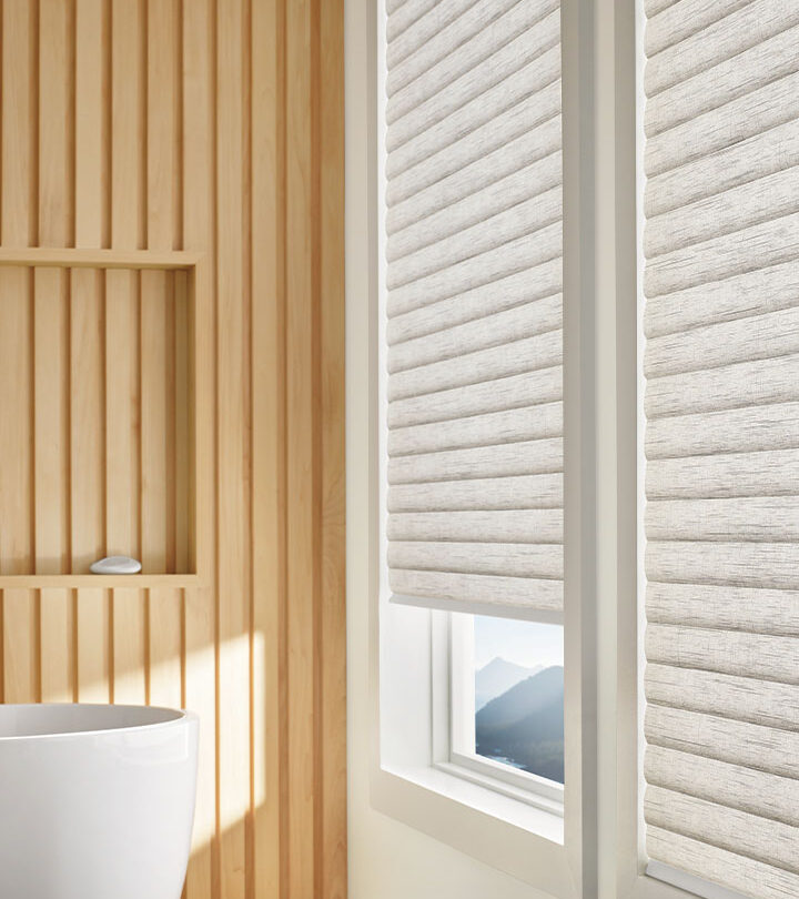 floor to ceiling cellular roller shades in Little Canada MN