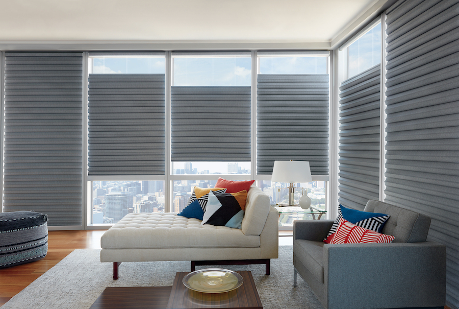 increase the light in living room with soft roman shades in St. Paul, MN
