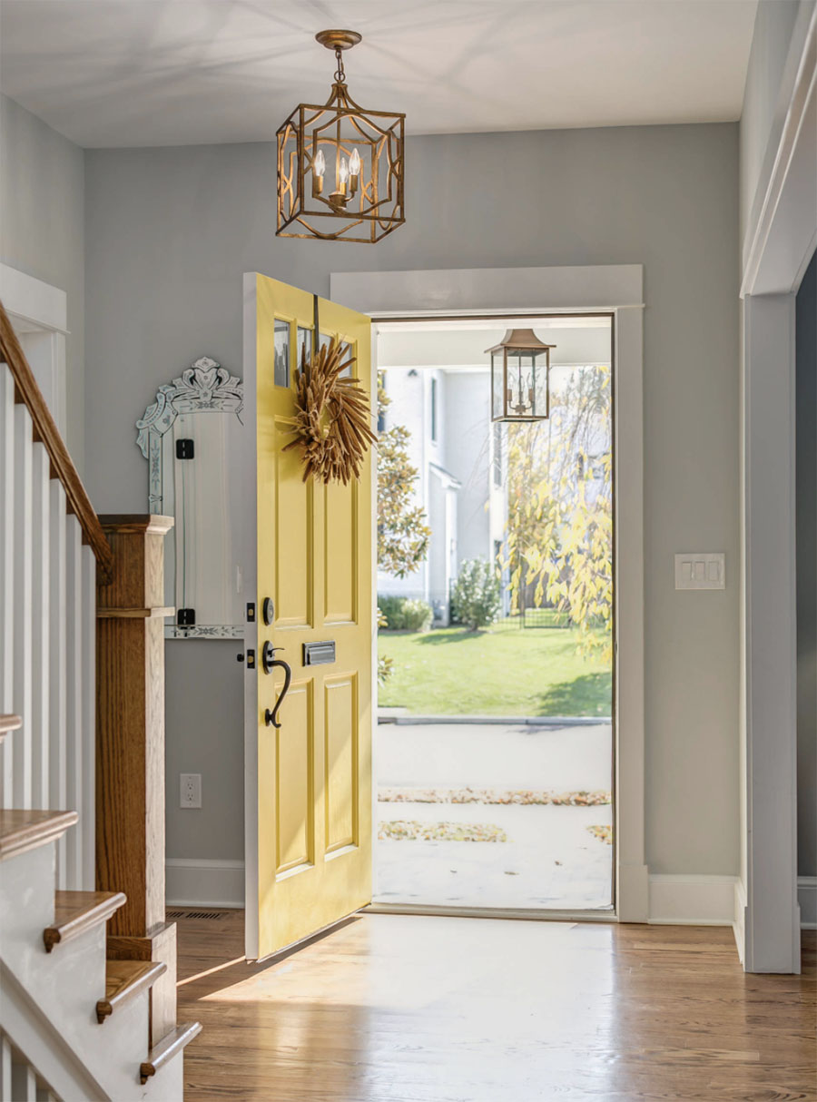 Color of the Year 2021 on Entry Door