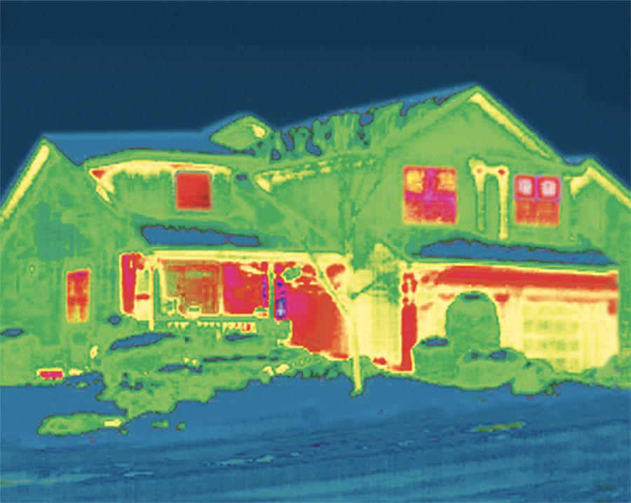 infrared technology shows whole house energy efficiency in St. Paul, MN