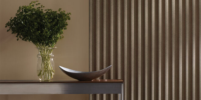 cadence vertical blinds in living room of St. Paul MN home
