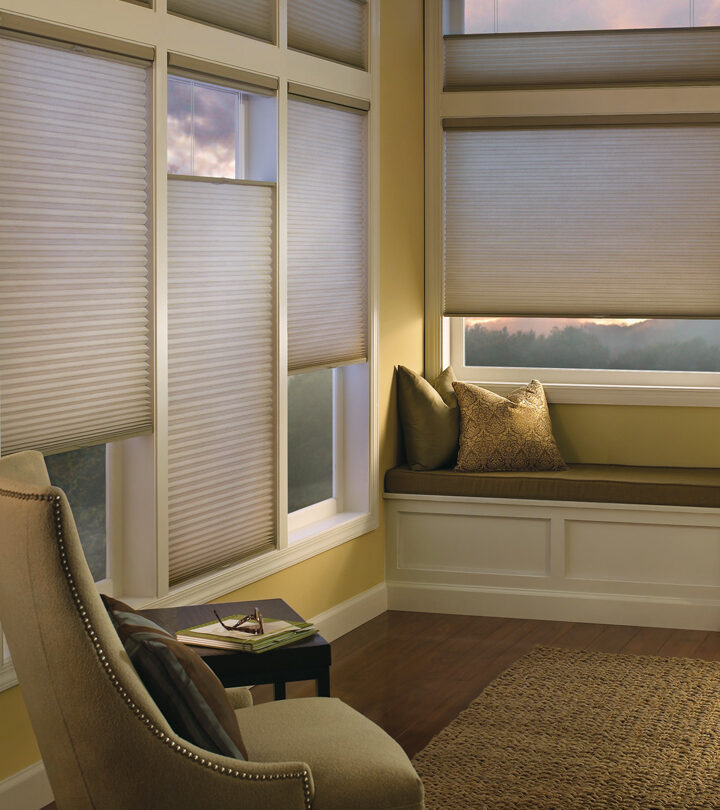 top down honeycomb shades in Maple Grove MN living room