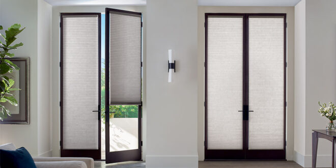 cover french doors with honeycomb shades in Minneapolis MN