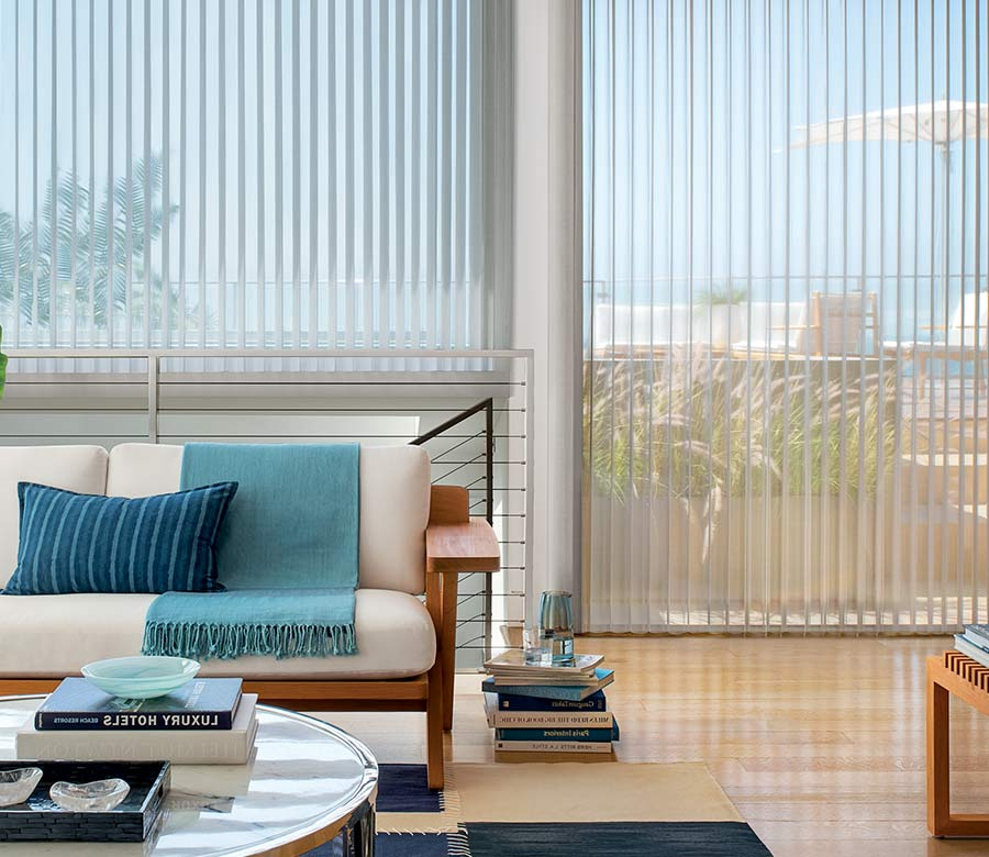 coastal inspired Maple grove 55369 home with floor to ceiling large window shades